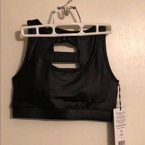 90 Degree By Reflex Intimates & Sleepwear - 90 Degree by Reflex metallic black sports bra sz S